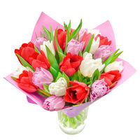 Bouquet of tulips Colorful Spring