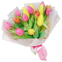 Bouquet of mixed tulips Dance of Flowers
