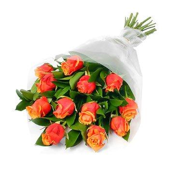 Букет из оранжевых роз Радостные Розы